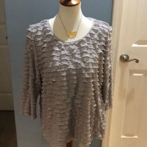 Grey Ruffle short with sequins!